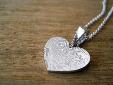 Heart necklace for Charlene