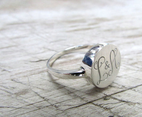 Monogram ring - two initials