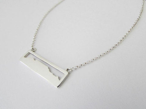 Table mountain necklace - rectangular