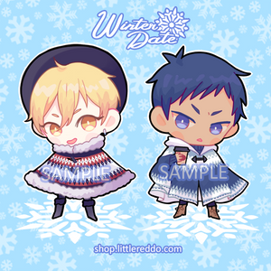 Keychain: Winter Date Aomine and Kise
