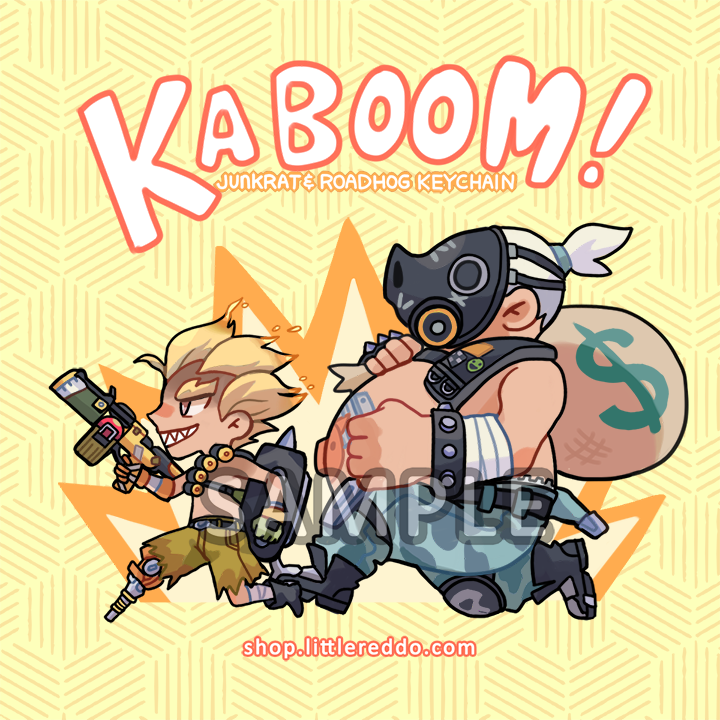 OVERWATCH: Roadhog and Junkrat Keychain LAST CHANCE!