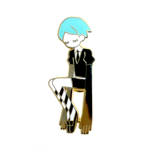 Enamel Pin: Phosphophyllite (CLOSED)