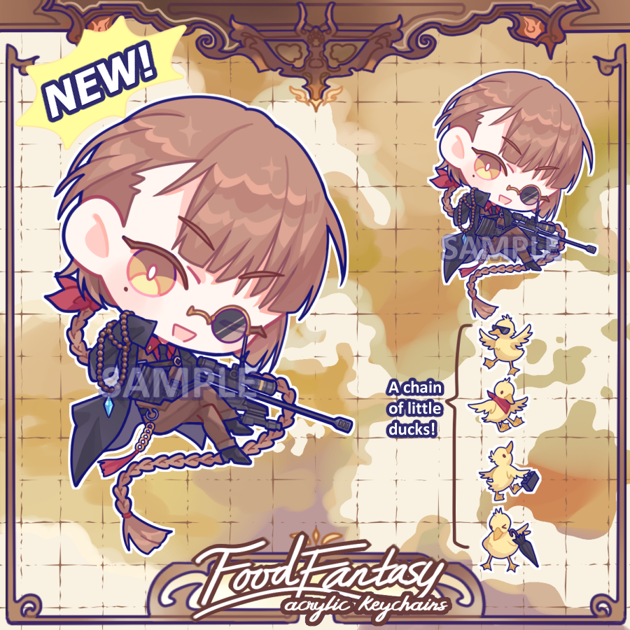 Keychain: Food Fantasy Gentleman Spy