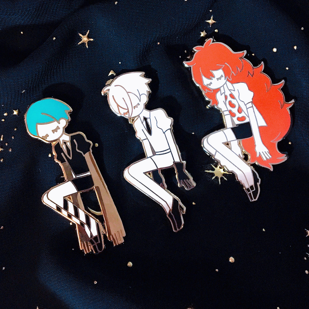 Enamel Pin: Gems Set of 3