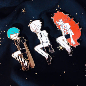 Enamel Pin: Gems Set of 3 (CLOSED)