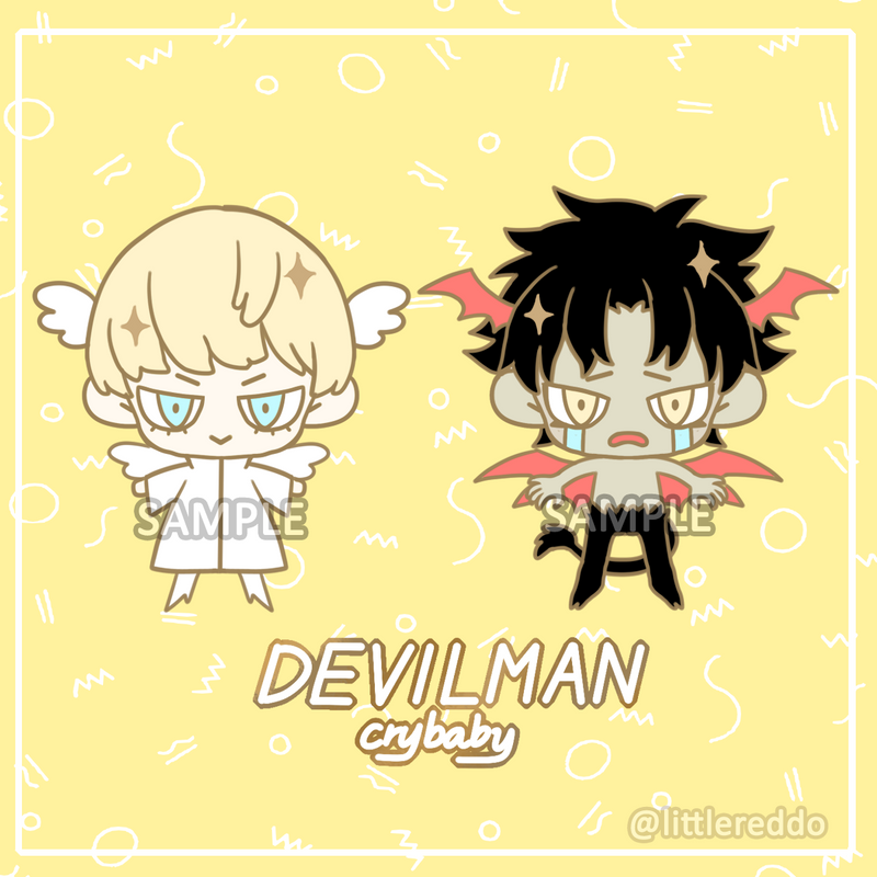 Enamel Pin: DEVILMAN CRYBABY (IN STOCK)