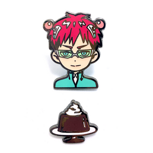 Enamel Pin: Saiki Kusuo and Coffee Jelly Set