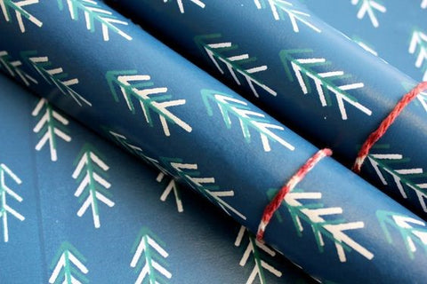 handmade printed wrapping paper