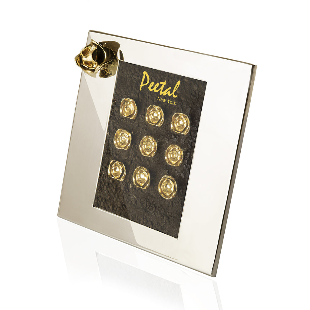 Shop online handmade silver Photo Frame | Peetal and Carissa modern home decor  [Peetal New York]