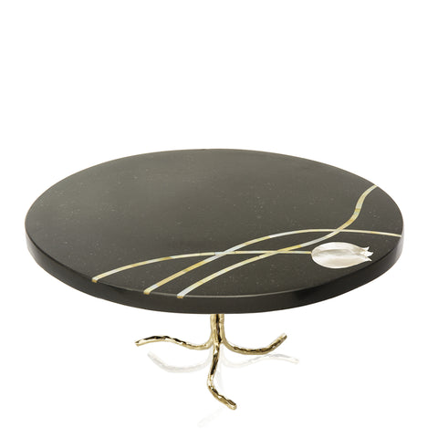 Mother of Pearl Inlay Cake Stand