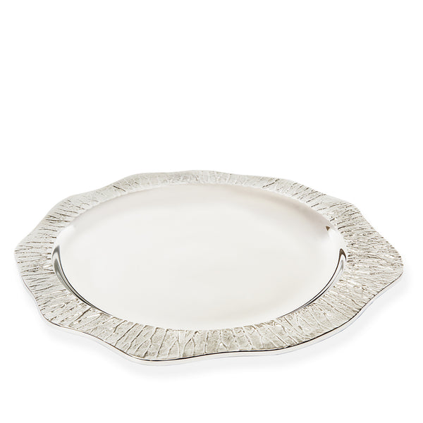Lotus Leaf Circular Serving Tray - Peetal New York