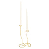 Lotus Stem Taper Candle Holder in Sparkling Gold modern home decor  [Peetal New York]