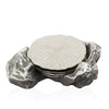 Shop unique handmade silver coaster set | Peetal and Carissa modern home decor  [Peetal New York]
