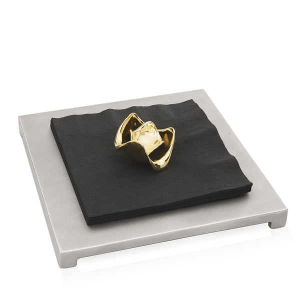 Lotus Flower Napkin Holder - Peetal New York