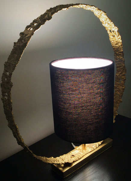 Shop unique handmade gold table lamp | Peetal and Carissa modern home decor  [Peetal New York]
