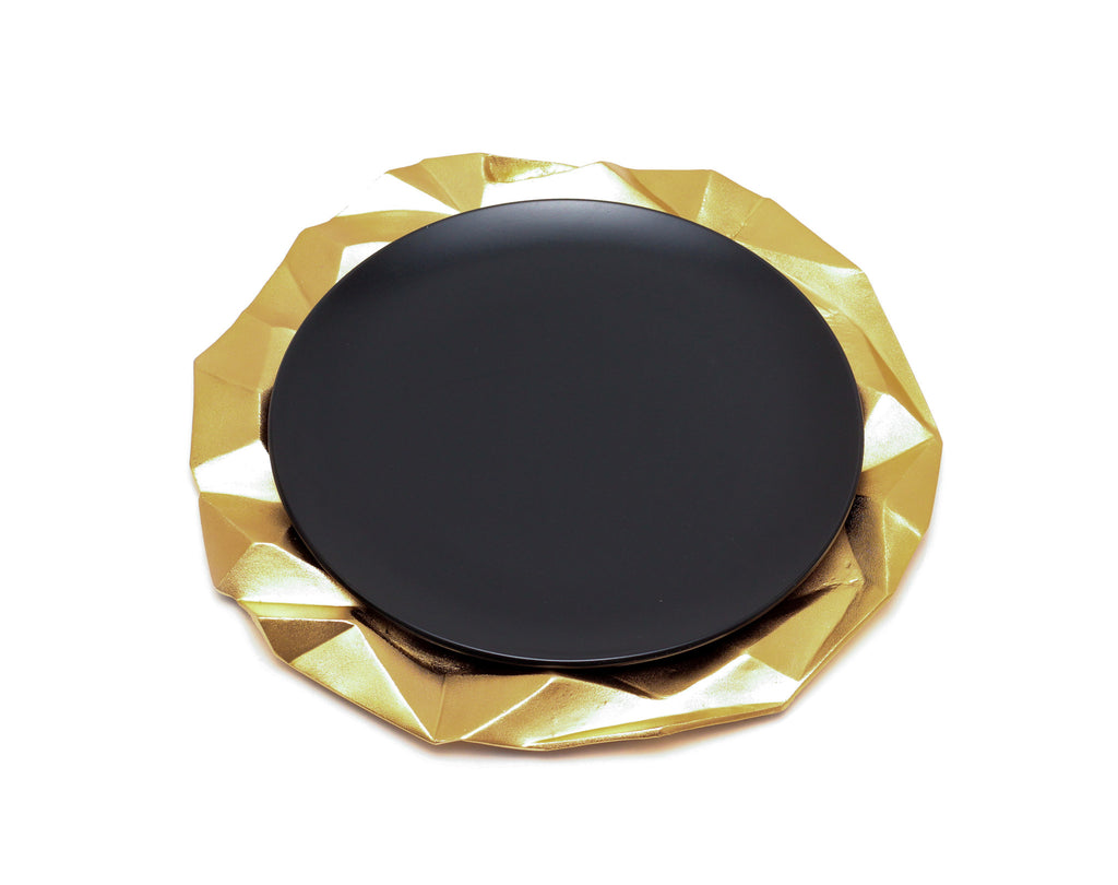 Faceted Hollow Charger Plate - Peetal and Carissa