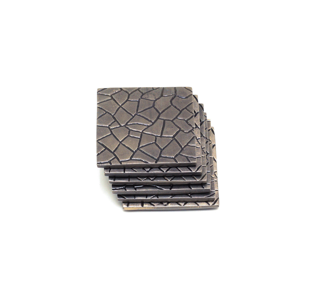 Faceted Coaster set modern home decor  [Peetal New York]