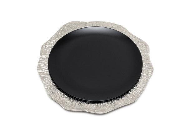 Lotus Leaf Hollow Charger Plate in Elegant Silver - Peetal New York