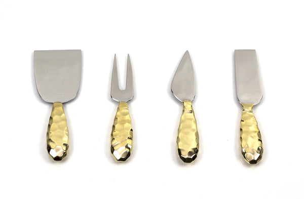 Peetal and Carissa| Handmade assorted cheese Knife gift set modern home decor  [Peetal New York]