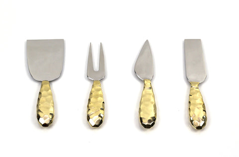 Faceted Cheese Knife Set