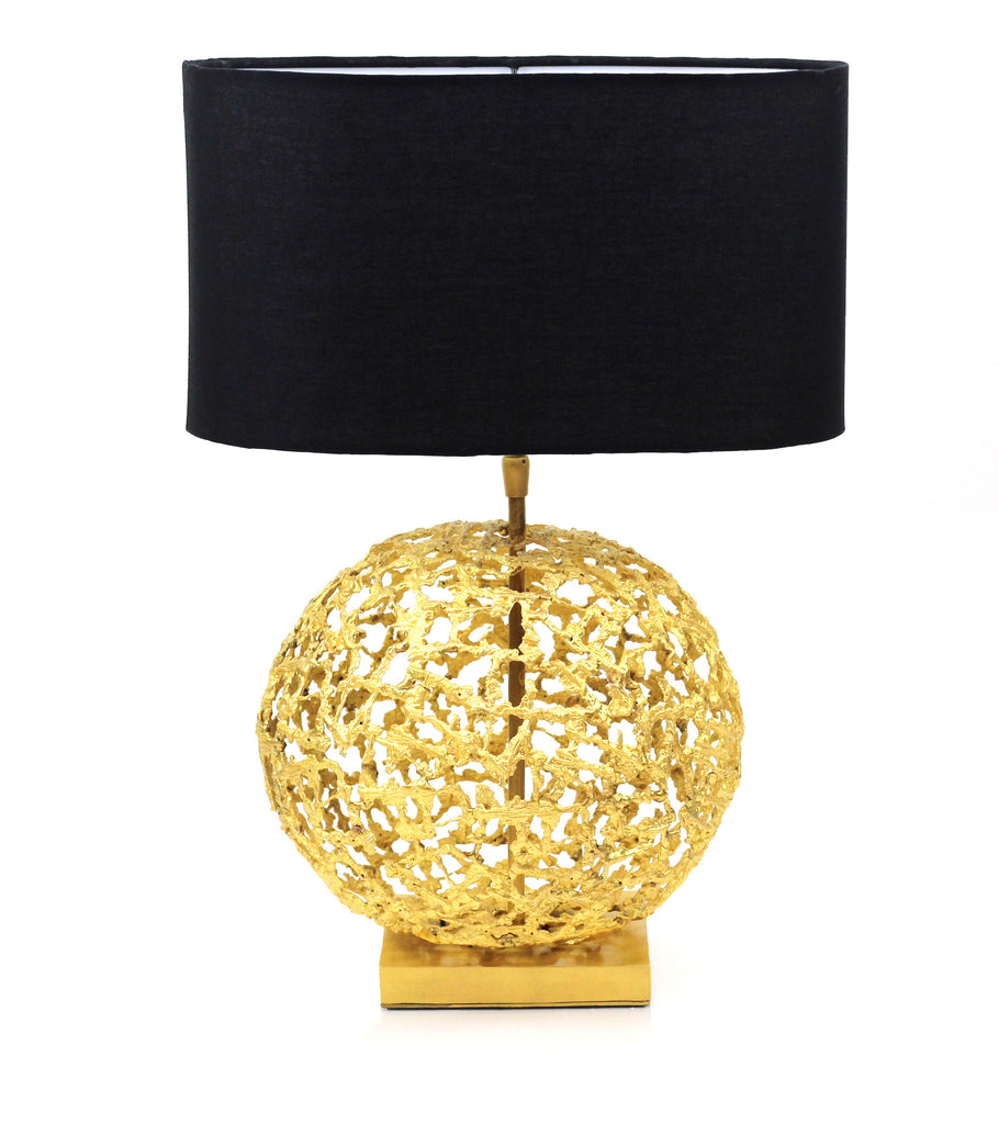 Shop online unique handmade sculptural Sphere Table Lamp | Peetal and Carissa modern home decor  [Peetal New York]