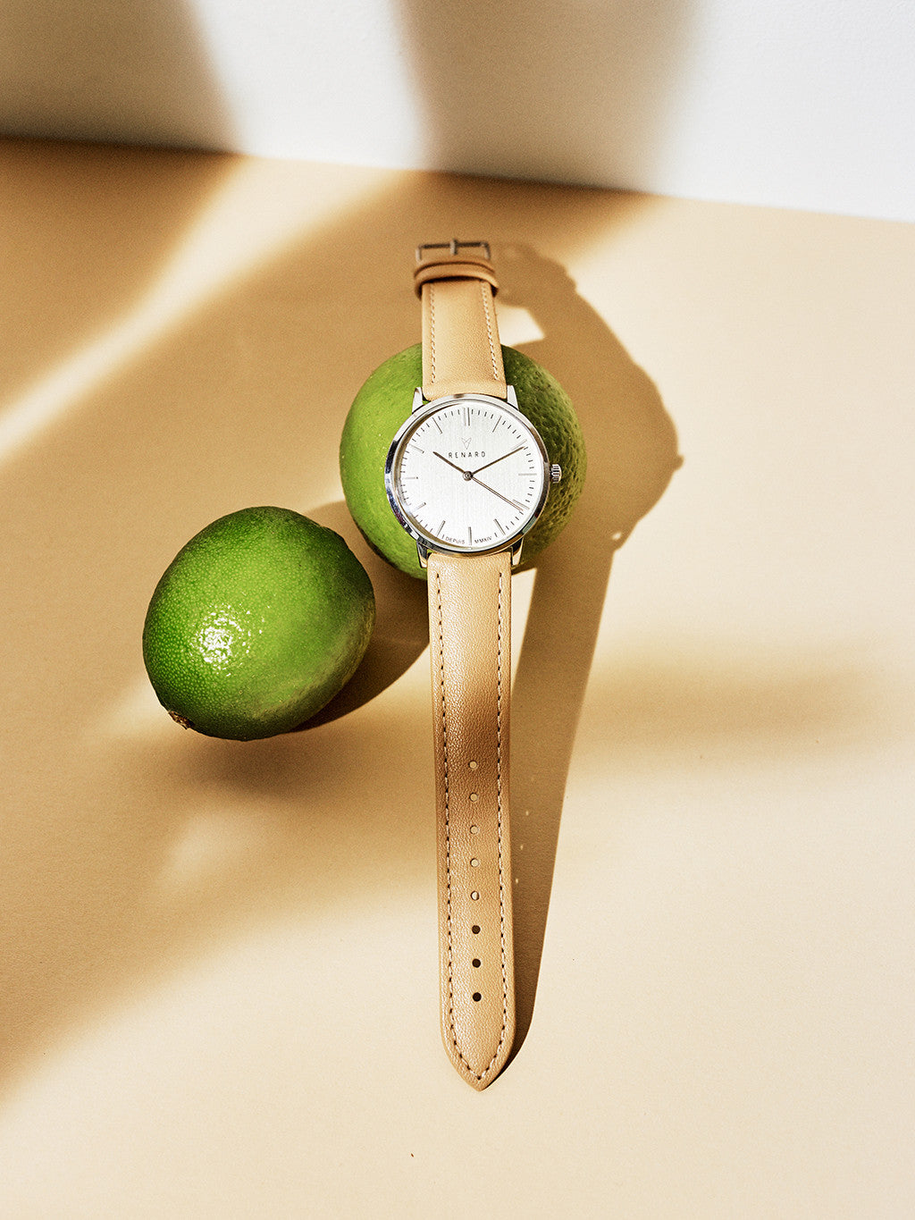 Renard Lime Color Strap Watch