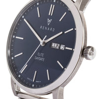 Elite Day Date Blue Milanese