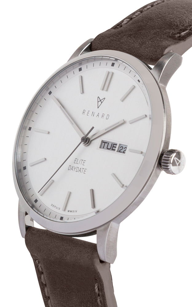Elite Day Date Silver Olive 2