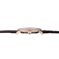 Elite Eggshell Rose Gold Brown Croco