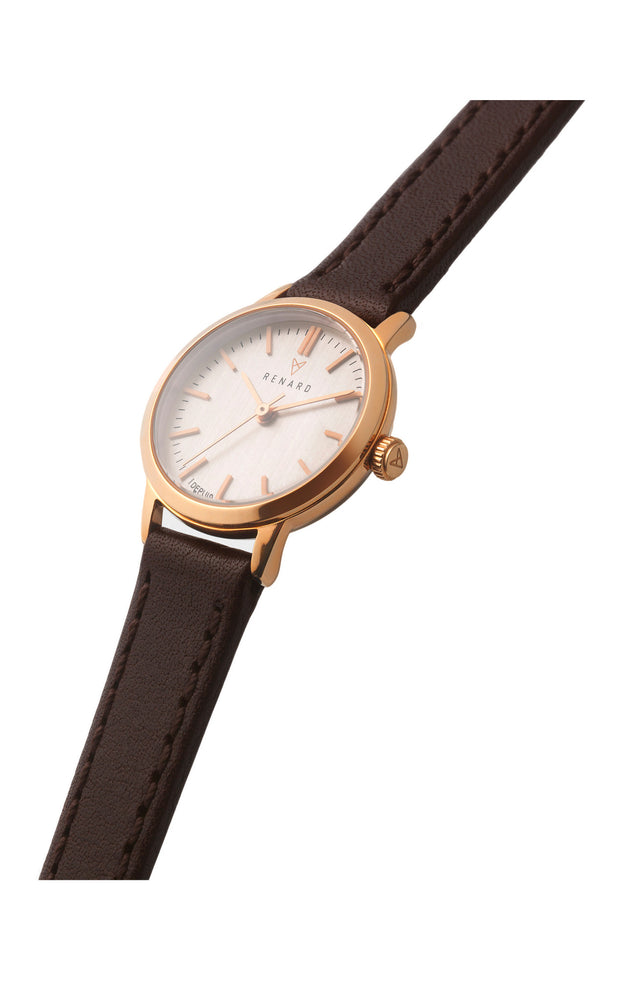 Elite Rose Gold Veau Brown Small 2