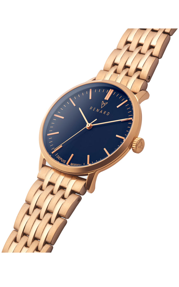 Elite Ocean Blue Rose Gold Link 2