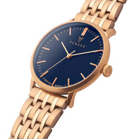 Elite Ocean Blue Rose Gold Link
