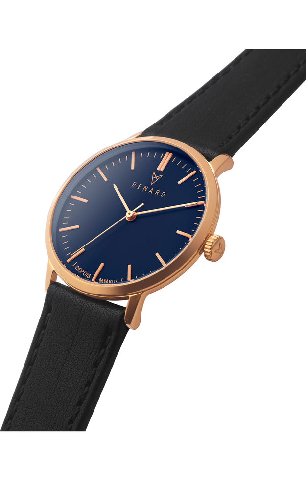 Elite Ocean Blue Rose Gold Veau Black 2