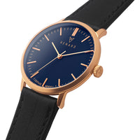 Elite Ocean Blue Rose Gold Veau Black