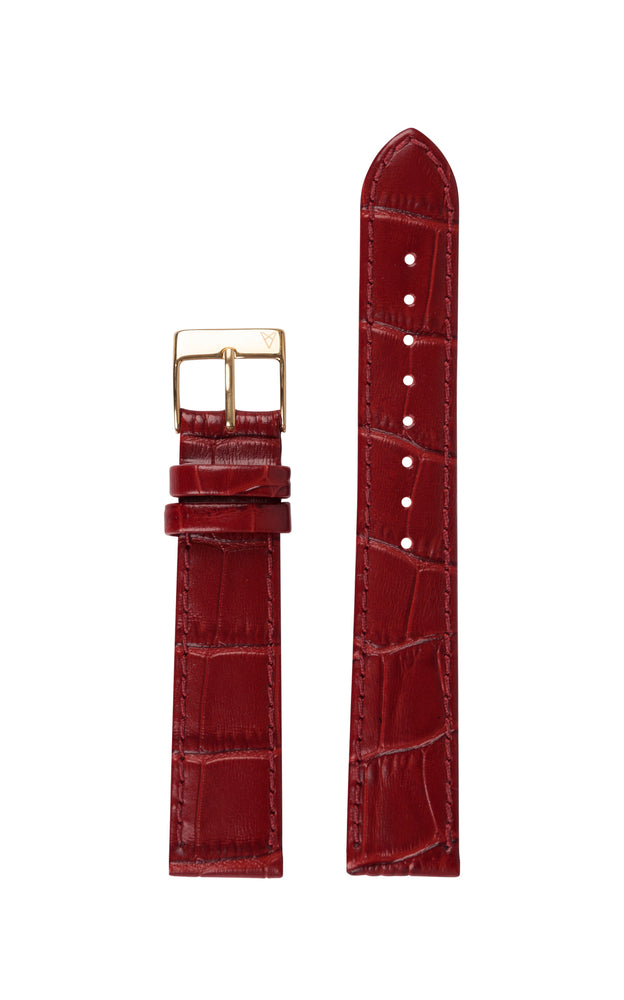 Elite 35.5 Red Croco Strap 1