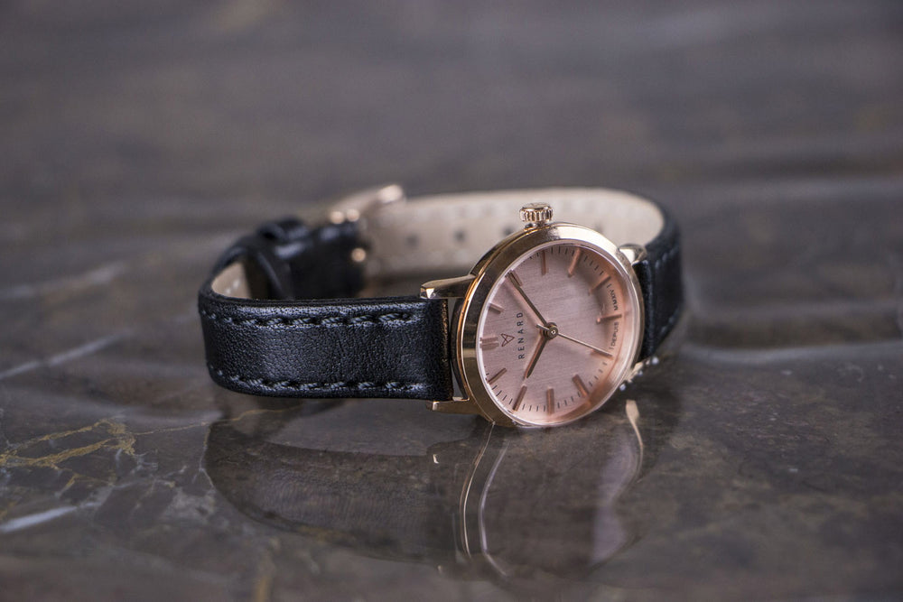 Elite Rose Gold Veau Black Small 5