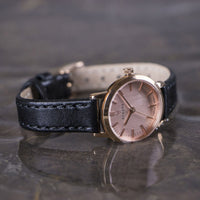 Elite Rose Gold Veau Black Small