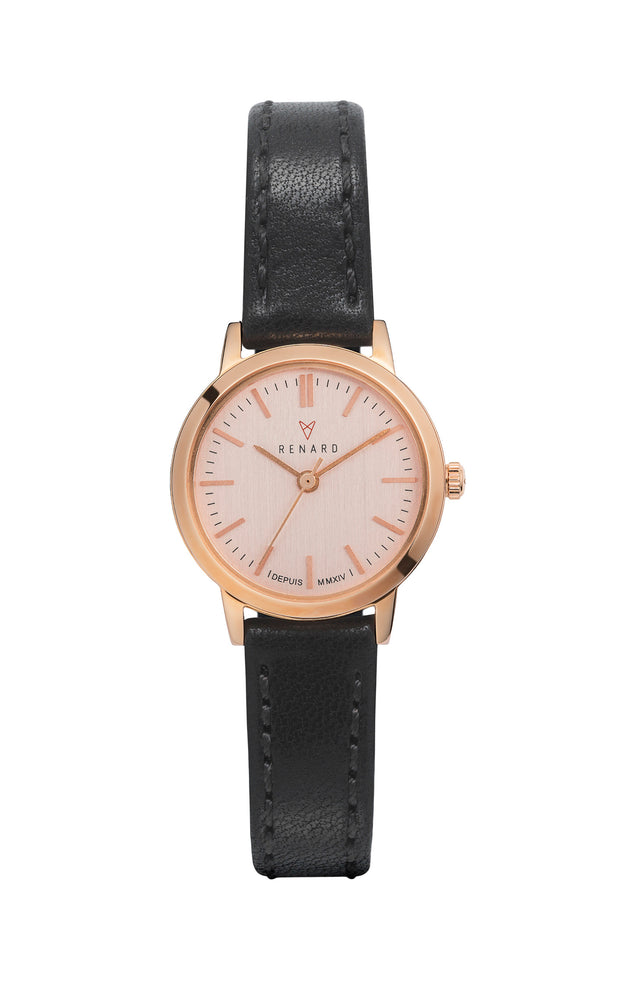 Elite Rose Gold Veau Black Small 1
