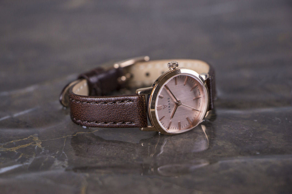 Elite Rose Gold Veau Brown Small 5