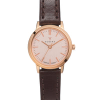 Elite Rose Gold Veau Brown Small