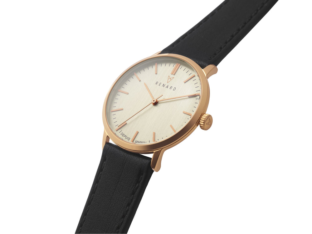 Elite Eggshell Rose Gold Veau Black 2