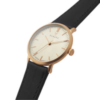Elite Eggshell Rose Gold Veau Black