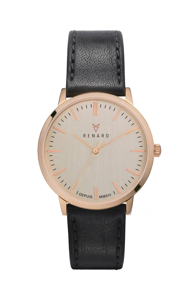 Elite Eggshell Rose Gold Veau Black 1