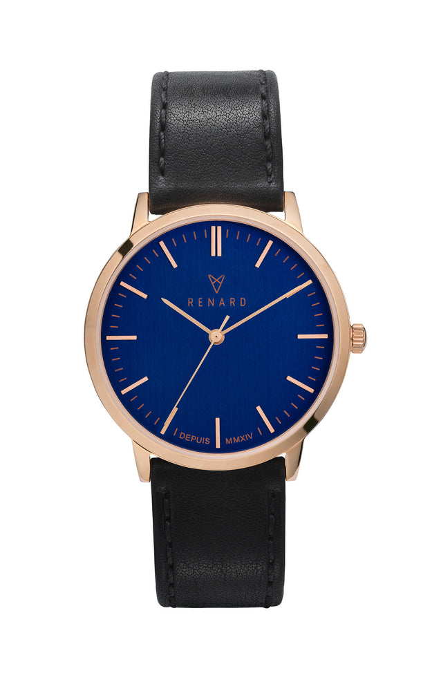 Elite Ocean Blue Rose Gold Veau Black 1