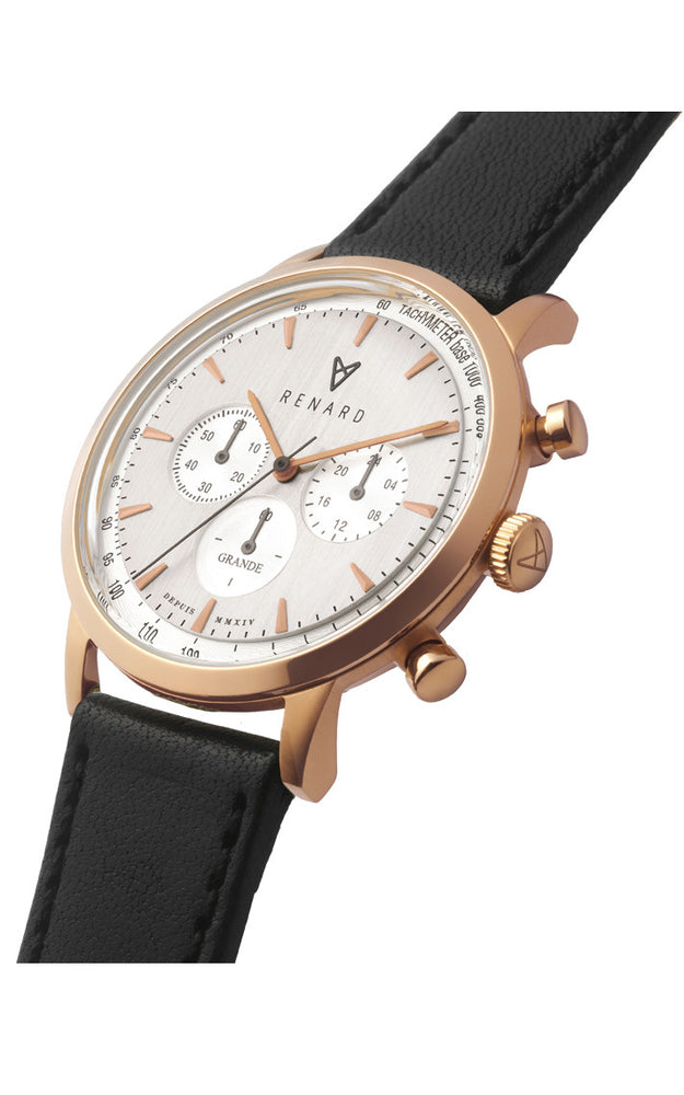 Grande Silver Rose Gold Veau Black 2