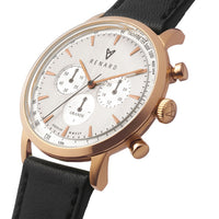 Grande Silver Rose Gold Veau Black