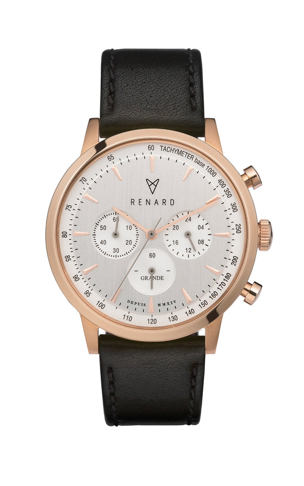 Grande Silver Rose Gold Veau Black 1