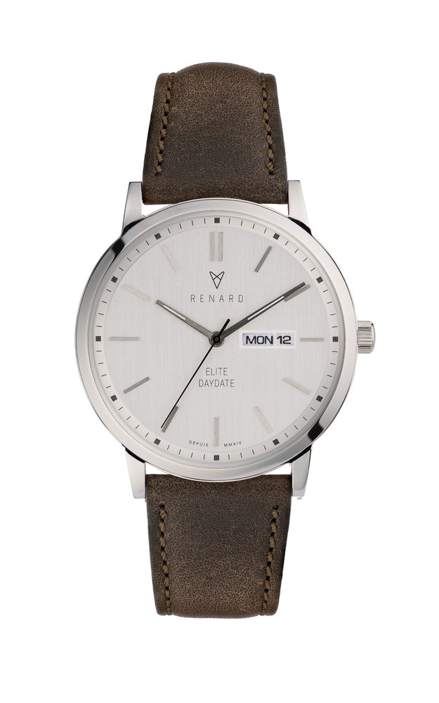 Elite Day Date Silver Olive 1