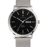 Elite Day Date Black Milanese