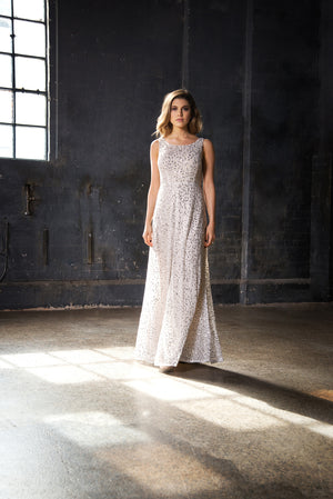 Charmed gown champagne cocktail dress, brides dress